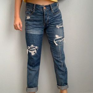 ripped mix washed american eagle outfitters jeans
